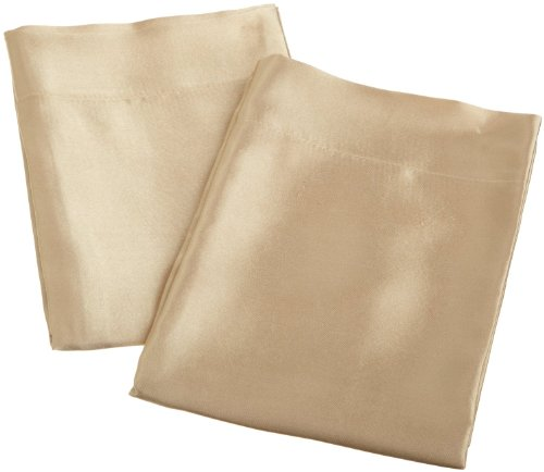 Luxury Silky Soft SATiN 2-Piece Pillowcases - Standard Size , Many Colors Available, Black