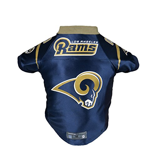 Littlearth NFL Los Angeles Rams Premium Pet Jersey, (Rams Authentic Jersey)