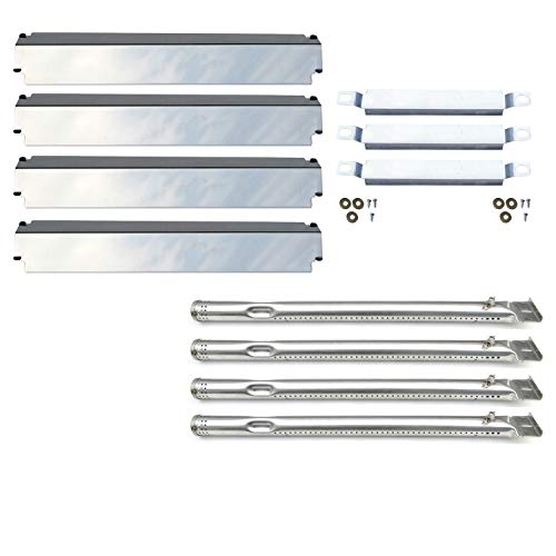 Direct store Parts Kit DG245 Replacement Charbroil 463247310,463257010 Gas Grill Burner,Crossover Tubes,Heat Shield-4 Pack (SS Burner + SS Carry-Over Tubes + SS Heat Plate)