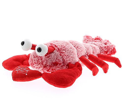 DolliBu Red Lobster I Love You Valentines Stuffed Animal - Heart Message - 9 inch - Wedding, Anniversary, Date Night, Long Distance, Get Well Gift for Her, Him, Kids - ()