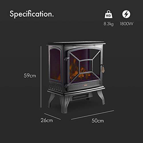 Vonhaus Panoramic Electric Stove Heater 1800w Fireplace