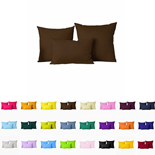 Decorative Pillows Cover/Cushion Case (24'x24', Coffee)