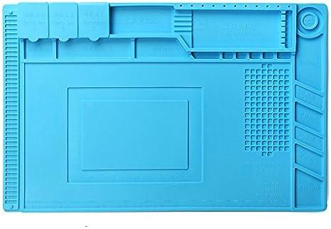 Heat Resistant Insulation Silicone Pad Desk Mat Soldering Phone Repair 34x23cm