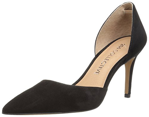 206 Collective Women's Adelaide D'Orsay Dress Pump, Black Suede, 7.5 B US