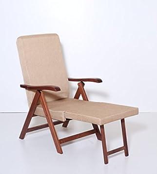 Sillón reclinable de madera de haya con relleno de espuma de poliuretano expansivo Elite Miami Los Angeles, 4 posiciones: Amazon.es: Hogar