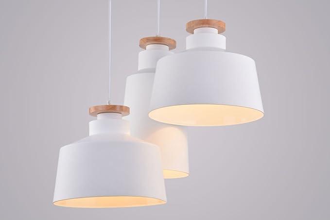 Lampadario Bianco Legno : Cagusto lampada a sospensione ega pezzi set bianco legno design