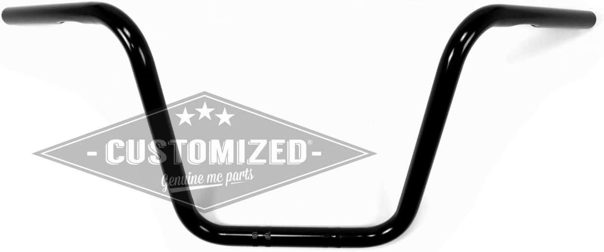1 Pouce 25,4mm Guidon Ape Hanger 30cm Noir pour Harley-Davidson