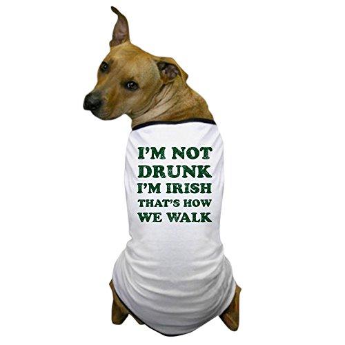 CafePress - Im Not Drunk Im Irish - Washed - Dog T-Shirt, Pet Clothing, Funny Dog Costume (Drunk 1 Costume Tshirt)