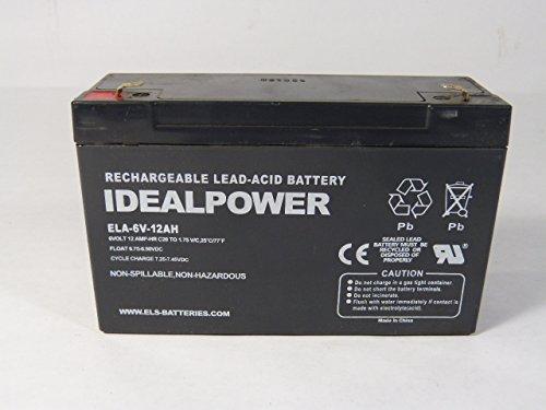 IDEALPOWER ELA-6V-12AH Rechargeable Battery 6V 12Amp