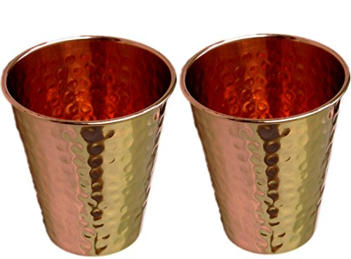 STREET CRAFT Set of- 2, Hammered Copper Mint Julep Cup / Hammered Copper Moscow Mule Mint Julep Cup 100% pure copper, beautifully handcrafted, Capacity- 12 oz.