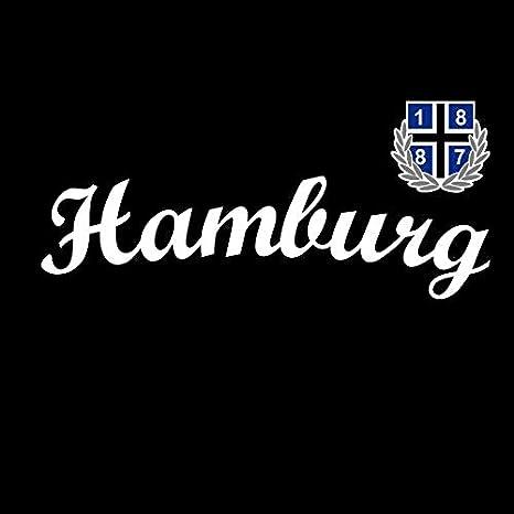 1887 Streetwear Kapuzenjacke Zipper Zip Hoodie New Hamburg Schwarz Bekleidung