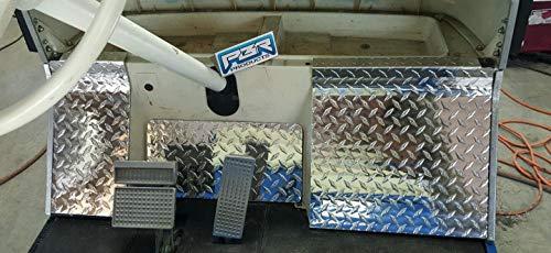 (YAMAHA GOLF CART G2 - G9 DIAMOND PLATE COWL PLATES AND GAS PEDAL BACKINGPLATE)
