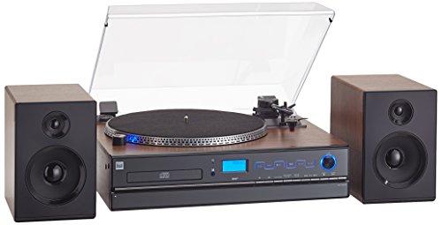 Dual NR 100 X compact systeem (DAB(+)-/FM-tuner, CD/MP3-speler, draaitafel, directe encoding-functie, AUX-IN-aansluiting…