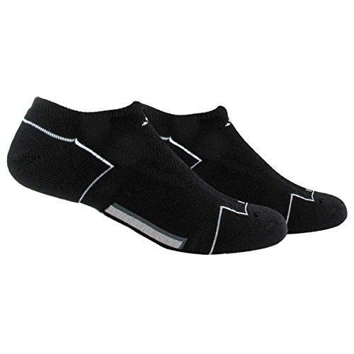 adidas Men's Climacool II No Show Sock (2-Pair), Black/White/Medium Lead, Size 6-12