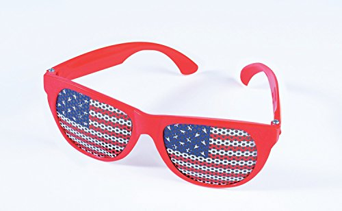 4th Of July Costumes Uk (Red Usa Patriotic Flag Glasses)