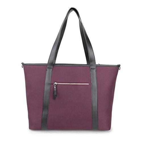 Tote Nylon ENKNIGHT Women Shoulder Waterproof Handbags Travel for Navy Bag bag Purple adwwqA