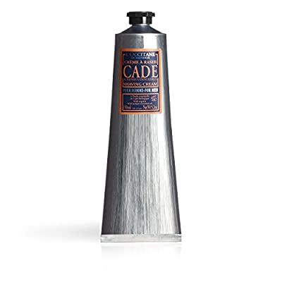 L'Occitane Cade Shaving Cream Enriched with Essential Oils and Shea Butter, 5.2 fl. oz.