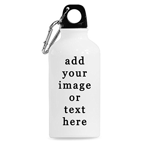 (Tobe Yours Image Text Print Photo DIY Personalized Custom Sport Water Bottle Travel Cup 13.5 OZ (Twin Sides Print) Design Your Own Nice)