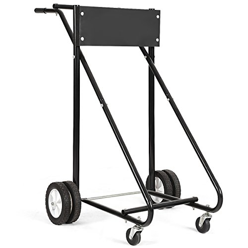 GOPLUS 310 LBS Outboard Boat Motor Stand Carrier Cart Dolly Storage Pro Heavy Duty (Best Value Outboard Motors)