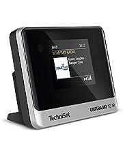 TechniSat DIGITRADIO 10 IR - Stereo-tuner met internetradio, DAB+, WLAN, kleurenscherm, bluetooth, afstandsbediening, wekker, perfecte aanvulling voor hifi-systemen, zwart/zilver