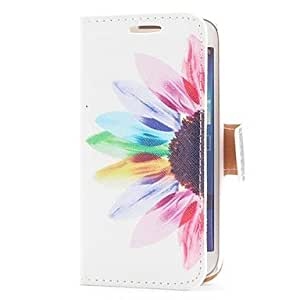 Sun Flower Style Leather Case with Card Slot and Stand for Samsung Galaxy S4 Mini i9190