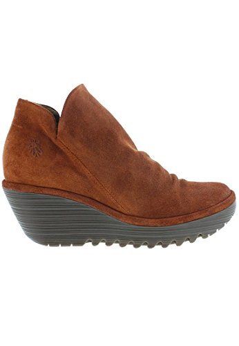 Fly London Womens Yip Suede Boots Brick