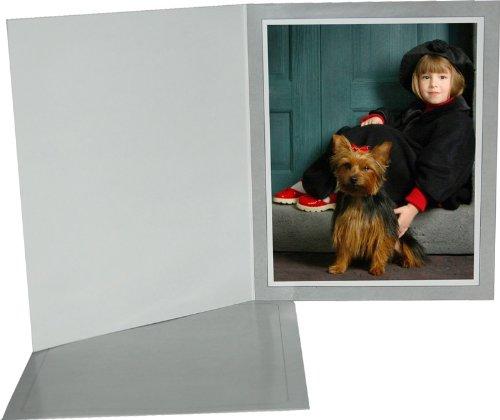Cardboard Photo Folder 4x6 (Pack 0f 100) Light Gray by Bosch