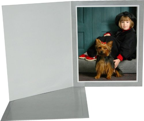 Cardboard Photo Folder 4x6 (Pack 0f 100) Light Gray