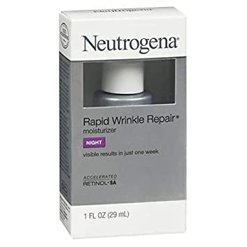 Neutrogena Rapid Wrinkle Repair Moisturizer 1 Ounce Night 29ml 3 Pack