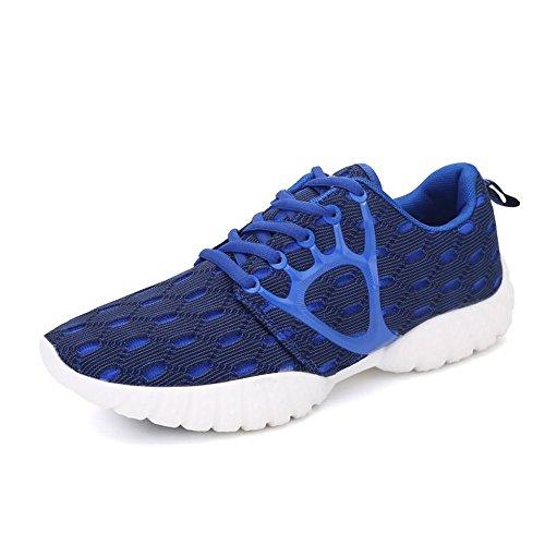 donna tempo con Scarpe 2018 piatto per e shoes da lacci uomo libero EU da Dimensione Autunno Jiuyue Color da 42 Estate Sneaker e sportive Blu esterno tacco il 6WHI16x0a