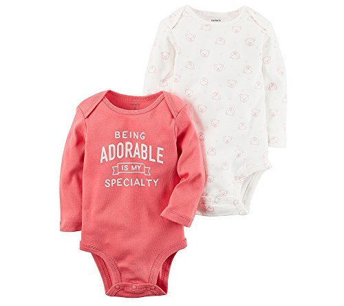 Carters 2 Pack Bodysuits - Carter's Baby Girls' 2-Pack Bodysuit Set 9 Months