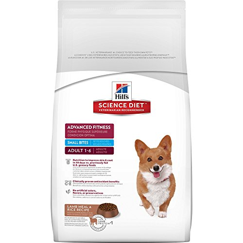 Hill's Science Diet Adult Dry Dog Food, Advanced Fitness Small Bites Lamb Meal & Rice Recipe Pet Food, 33 lb Bag Bites Dog