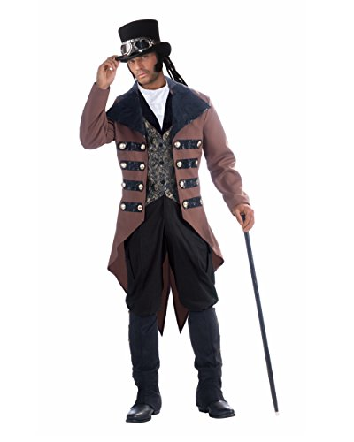 [Adult's Mens Steampunk Jack Gentleman Costume Plus Size X-Large 44-48] (Steampunk Costumes Men)
