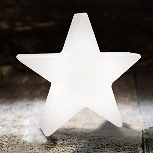 8 seasons design Kleiner LED Stern Shining Star Micro XS 9,5 cm, Neu mit Batterie-Schutzfolie, kabellos, Dekostern, Sterngeschenk, Mitbringsel wei/ß