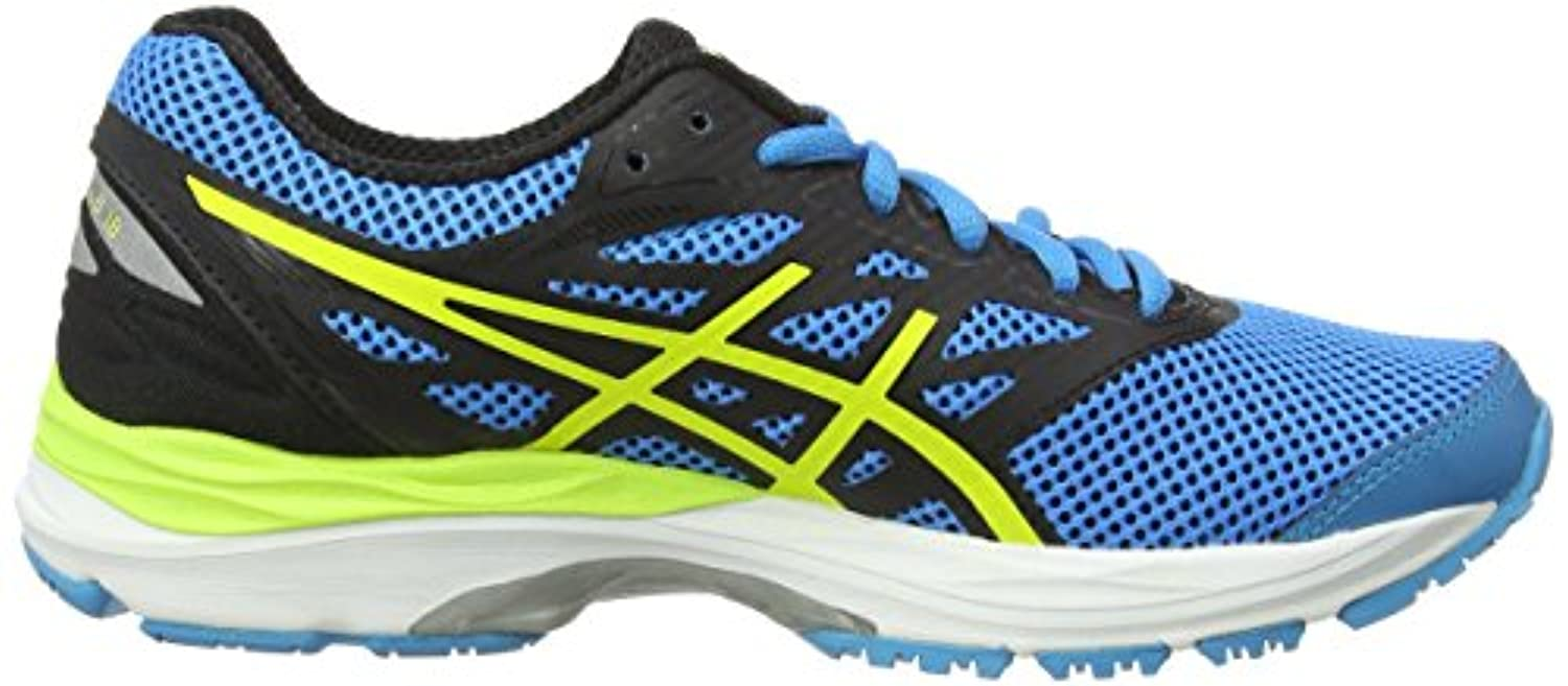 Asics Unisex Kids' Gel-Cumulus 18 GS Competition Running Shoes, Blue (Island Blue/Safety Yellow/Black), 40 UK