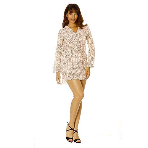 1bc3e4fcdf3 Miss Wear Line Robe blanche à motif fleur femme Vente Réel ...
