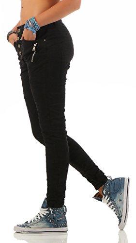 Baggy Jeans Nero L1808 Fidanzati Distrutto Look Lexxury 1 Denim Da Zarmexx Ladies Stretch OxqSIAw4
