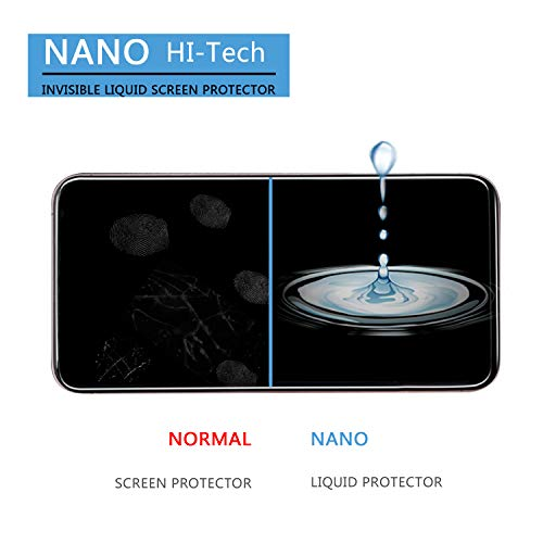 DOTSOG Upgraded Nano Liquid Screen Protector, Scratch Resistant 9H Hardness for All Smartphones, Tablets, Watches, Cameras, Nano Coating Compatible for iPhone X, XS, XR-Covers Up to 3 Phones (Smartphone Glass Screen Protector)