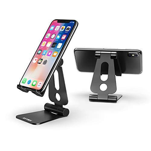 Phone Stand for Desk - RYYMX Dual Adjustable Cell Phone Stand, Desk Phone Stand, Dock, Cradle, Holder Compatible with iPhone Xs Max Xr X 8 7 6 6s Plus 5 5s 5c, All Smartphones, Switch, Accessories