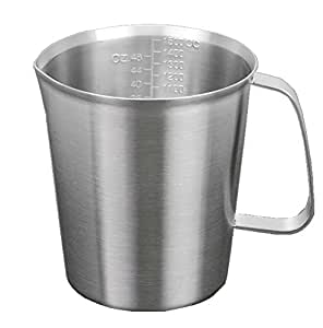 Lotus Stores #304 Stainless Steel Measuring Cup with Marking with Handle (1500ml)