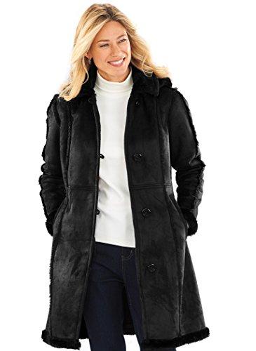 Totes Faux Shearling Coat Petite Black