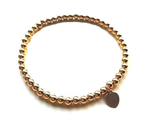 Wolf + Cub Co. 14k Gold Bead Bracelet for Women Beads Bracelet for Girls ()