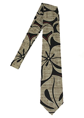 Necktie Hawaiian - Hawaii Neckties, Khaki Flower