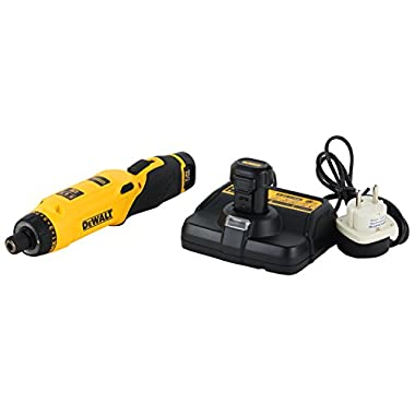 DEWALT DCF680G2-GB 7.2V 6.35 mm XR Li Ion Cordless Motion Activated Screwdriver with 2x1.0 Ah batteries included 7