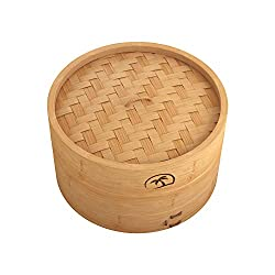 Without Compromising on Quality, Make Healthy & Delicious Dumpling Dim Sum! Tree Top's 10-inch Dimsum Bamboo Steamer is an ideal and perfect choice to cook mouth-watering delights and other steamed cuisines. Once you use this incredible bamboo ri...