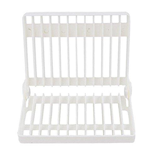 Folding Dish and Glass Drying Rack, Aolvo Plastic Tableware