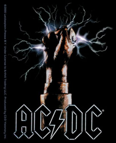 Licenses Products AC/DC Fist Sticker (Logo Dc Guitar)