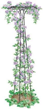 Essex Garden Trellis 63 Tall for Climbing Vegetables and Flowers, Decorative Flower Support