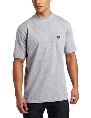 RIGGS WORKWEAR by Wrangler Men's Pocket T-Shirt, Ash Heather, X-Large