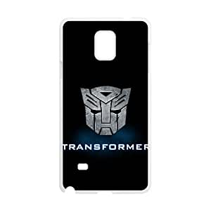 Generic hard plastic Transformers Autobot Logo Cell Phone Case for Samsung Galaxy Note 4 White ABC83